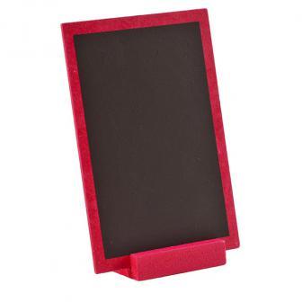 Personalisierbare Holz-Tafel mit Aufsteller 15 x 10 cm-pink