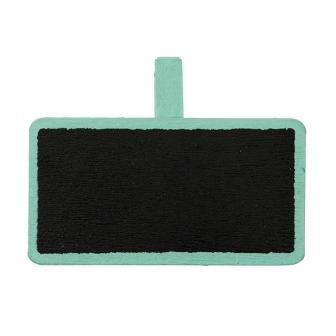 Personalisierbare Namenstafel mit Klammer 12er Pack-mint-grün