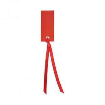 Personalisierbare Namenskarten mit Satinband 12er Pack-rot
