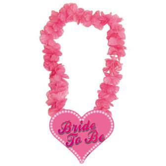 "Pinke Blumenkette ""Bride to be"""