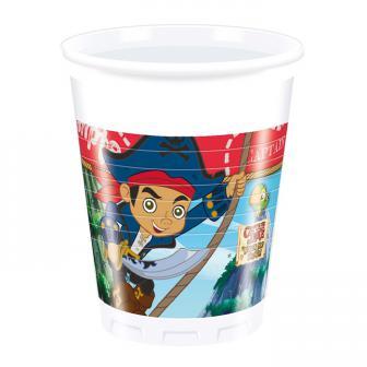 """Plastikbecher """"Captain Jake & die Nimmerland Piraten"""" 8er Pack"""