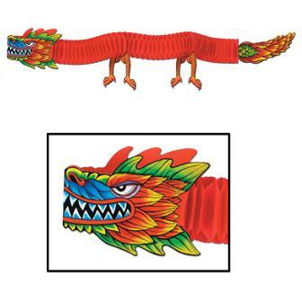 Raumdeko Asiatischer Drache XL 180 cm