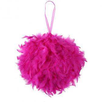 Raumdeko Federkugel-pink-30 cm