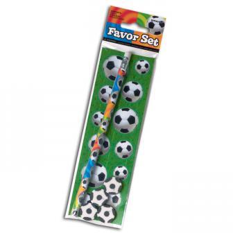 """Schreibset mit Stickern """"Fußball"""" 17-tlg."""