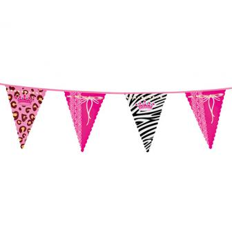 """Schrille Wimpel-Girlande """"Princess Party"""" 6 m"""