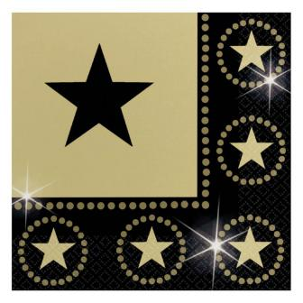 "Servietten ""Glamour Star"" 16er Pack"