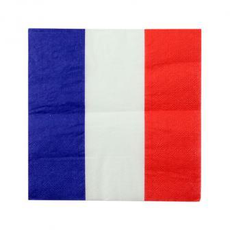 "Servietten ""Vive la France"" 20er Pack"