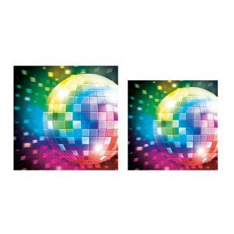 "Servietten ""Buntes Disco Fever"" 16er Pack"