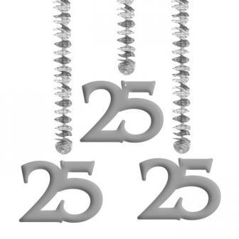 """Spiral-Deckenhänger """"25"""" 3er Pack"""