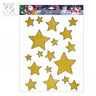 """Statisch haftende Aufkleber """"Weihnachtlicher Sternenhimmel"""" 18-tlg."""