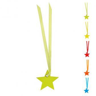 Stern-Namenskarten mit Satinband 12er Pack