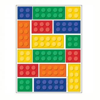 """Sticker """"Bunte Bausteine"""" 4er Pack"""