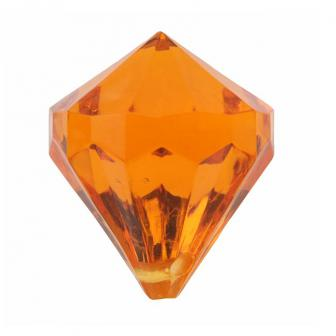 "Streuteile ""Farbenfrohe Diamanten"" 6er Pack-orange"