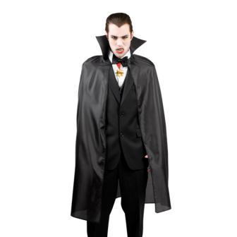 Vampir-Umhang mit Kragen 120 cm