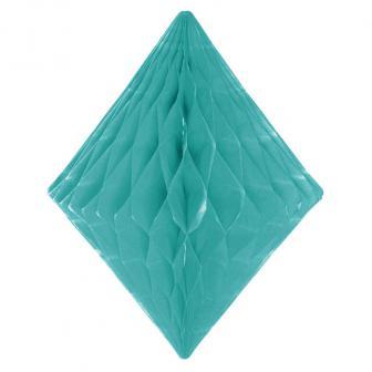 Wabenpapier-Diamant 30 cm-mint-grün