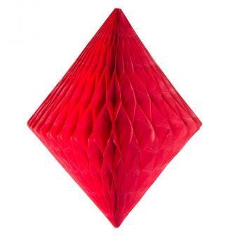 Wabenpapier-Diamant 30 cm-rot