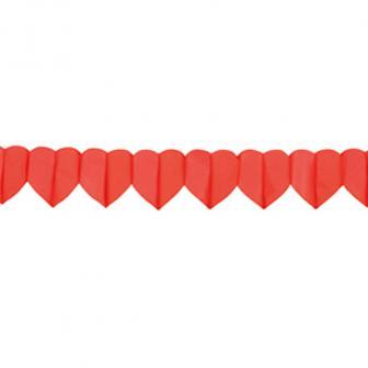"""Papier-Girlande """"Rote Herzen"""" 4 m"""
