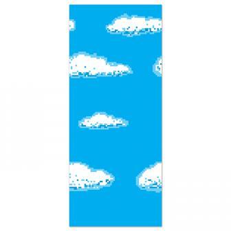 """Wanddeko """"Verpixelter Himmel"""" 1,22 x 9,14 m"""