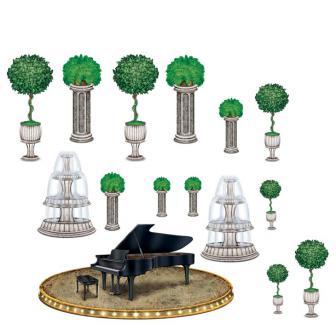 Wanddeko Piano 118 cm 15-tlg.