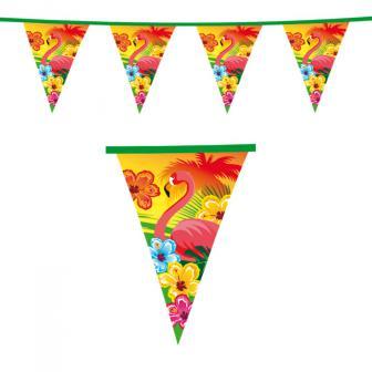 "Wimpel-Girlande ""Aloha und Flamingo"" 6 m"