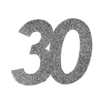 "XXL Glitzer Konfetti ""30. Geburtstag"" 6er Pack"
