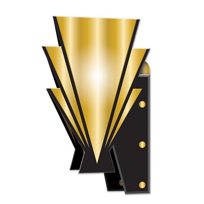 3d wanddeko golden 20ies 2er pack g nstig kaufen bei - Goldene wanddeko ...
