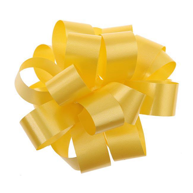einfarbige selbstraffende ziehschleife 40 m gelb g nstig kaufen bei. Black Bedroom Furniture Sets. Home Design Ideas
