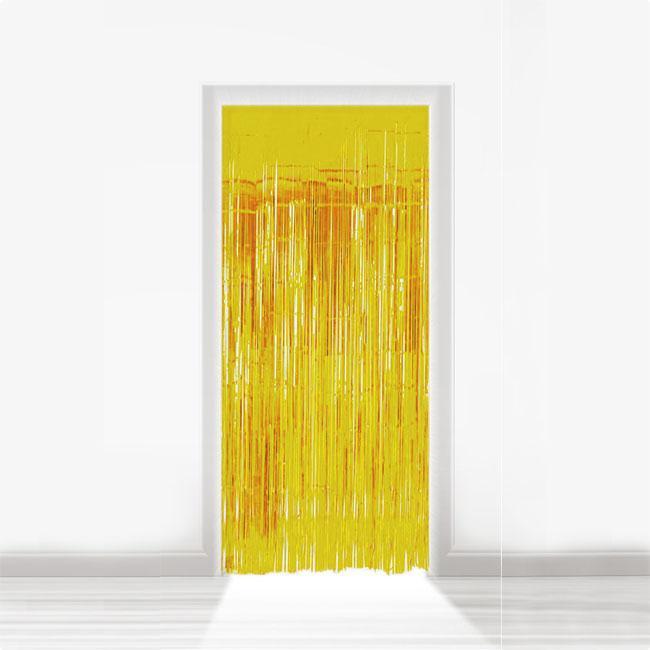 fransen t rvorhang aus folie 2 m gold g nstig kaufen bei. Black Bedroom Furniture Sets. Home Design Ideas