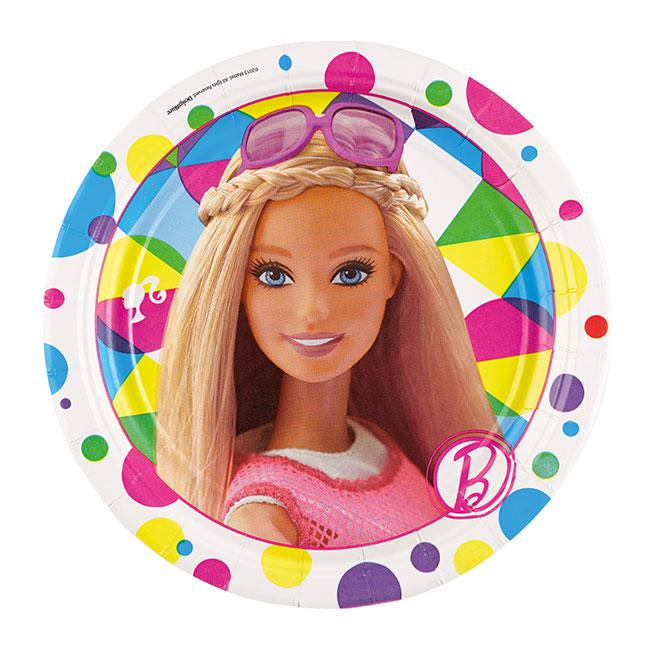 Kleine pappteller bunte barbie welt 8er pack g nstig for Bunte pappteller