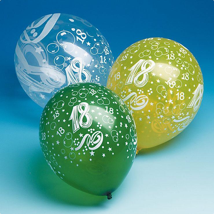 Luftballons 18 geburtstag 5er pack g nstig kaufen bei - 18 geburtstag planen ...