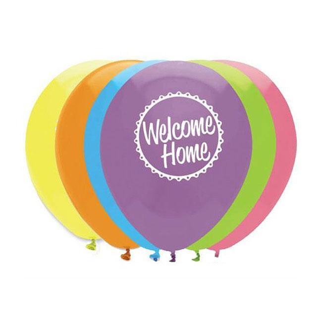 luftballons welcome home 6er pack g nstig kaufen bei. Black Bedroom Furniture Sets. Home Design Ideas