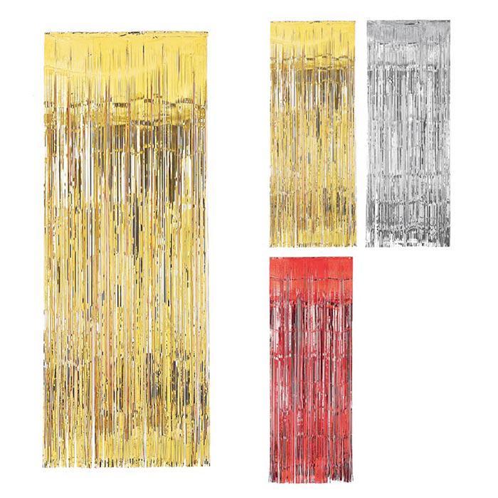Metallic t rvorhang lametta glamour 241 cm g nstig kaufen for Lametta kaufen