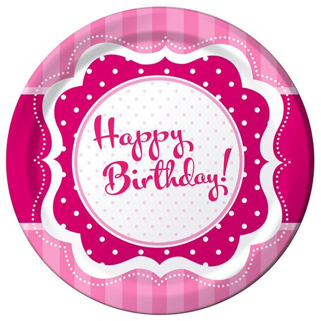 """18er Pack Servietten /""""Pretty Pink/"""" Happy Birthday"""