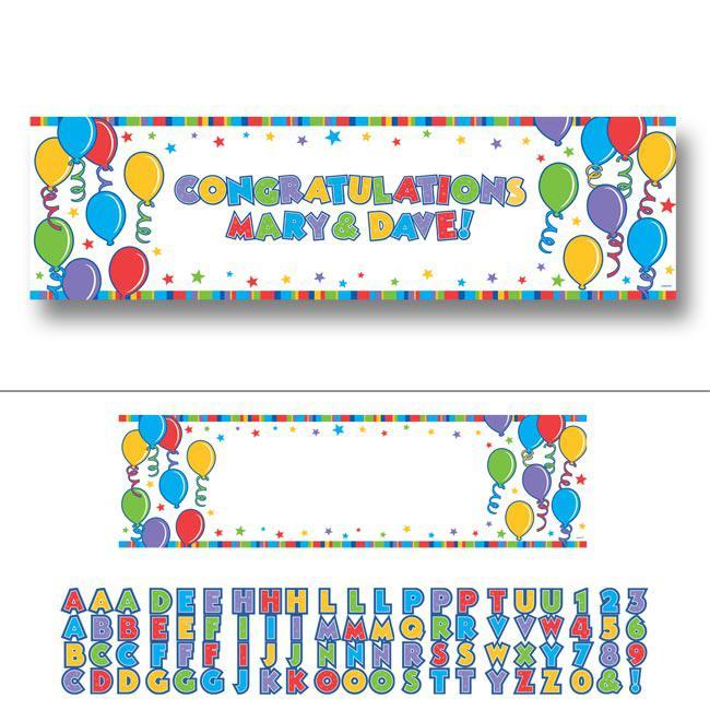 personalisierbares banner mit buchstaben zum aufkleben 165