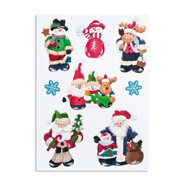 Selbstklebende Wanddeko Weihnachten 8 Tlg G Nstig