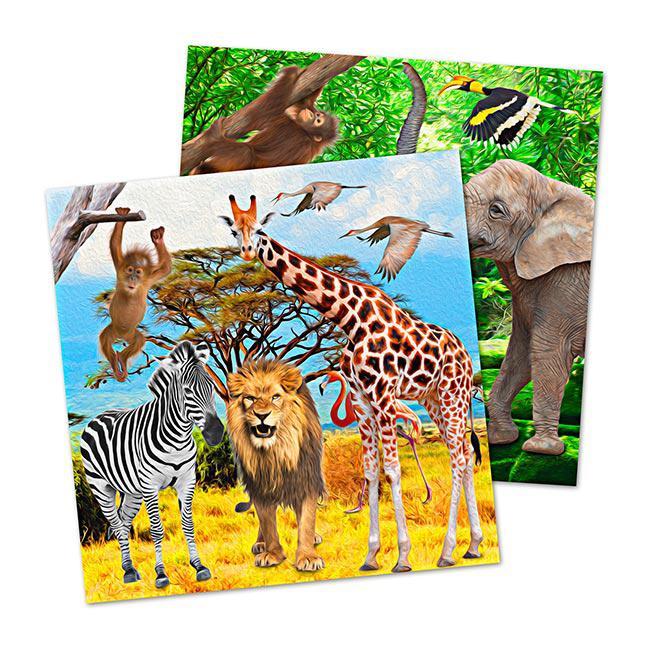 servietten wildes safarileben 20er pack g nstig kaufen bei. Black Bedroom Furniture Sets. Home Design Ideas