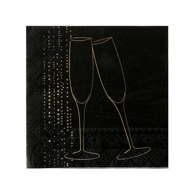 servietten edle silvesternacht 20er pack g nstig kaufen bei. Black Bedroom Furniture Sets. Home Design Ideas