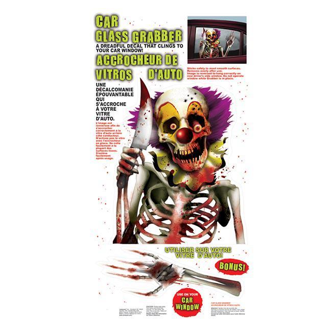 statisch haftende aufkleber horror clown 2 tlg g nstig. Black Bedroom Furniture Sets. Home Design Ideas