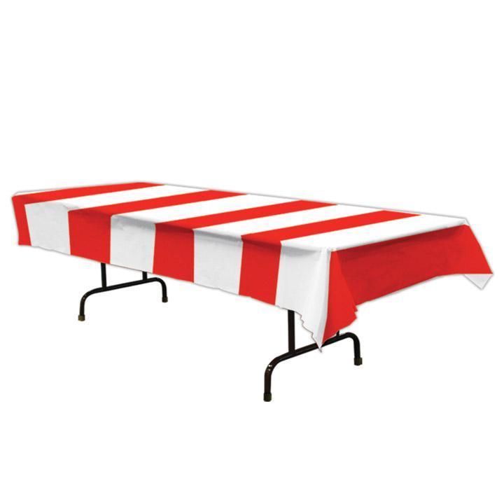 streifen tischdecke rot wei 137 x 274 cm g nstig kaufen bei. Black Bedroom Furniture Sets. Home Design Ideas