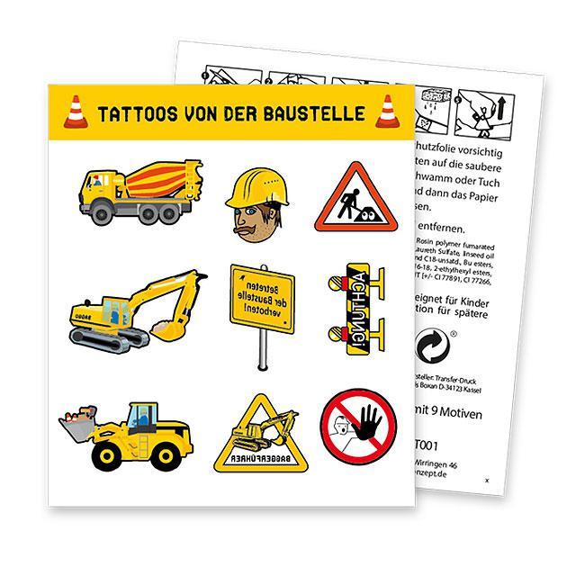 "XXL-Konfetti /""Baustelle/"" 24-tlg."