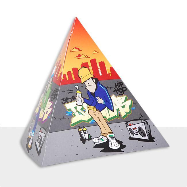 tischdeko pyramide hip hop graffiti 13 5 cm 5er pack g nstig kaufen bei. Black Bedroom Furniture Sets. Home Design Ideas