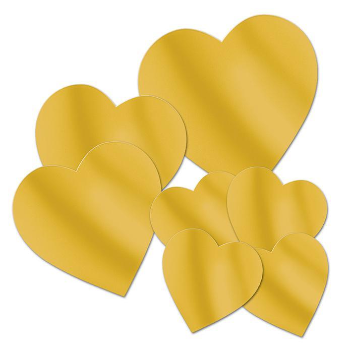 wanddeko goldene herzen 7 tlg g nstig kaufen bei