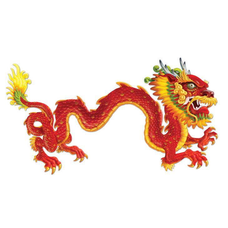 Wanddeko xxl gro er chinesischer drache 1 83 m g nstig for Asiatische wanddeko