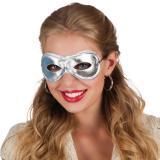 """Glamouröse Augenmaske """"Lady""""-silber"""