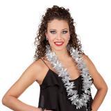 Glamouröse Blumenkette 100 cm-silber