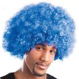 Afro Perücke-blau