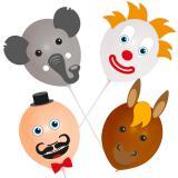 "Ballon-Köpfe zum Selbermachen ""Zirkus"" 18-tlg."
