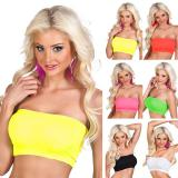 Einfarbiges Bandeau-Top