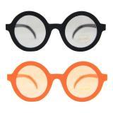 """Brille """"John Potter"""" mit gespiegelten Gläsern-orange"""