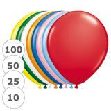 Bunte einfarbige Luftballons
